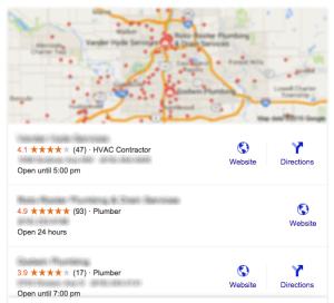 seo tips reviews map