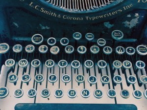 Antique Typewriter blogging for small business